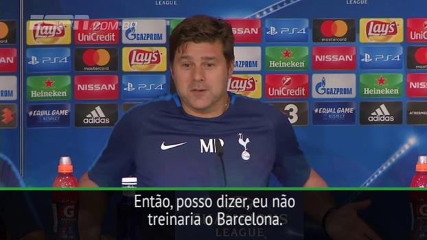 Ex-jogador do rival, Pochettino afirma: 'Eu não treinaria o Barcelona'