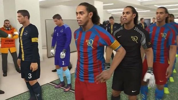O que aconteceria se 11 Ronaldinhos enfrentassem 11 Cristianos Ronaldos? Descubra
