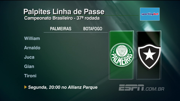 Veja os palpites do 'Linha de Passe' para a 37ª rodada do Campeonato Brasileiro