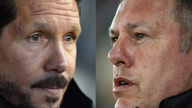 Simeone espera 'duelo muito brigado' com o Leicester; 'Entramos para competir', diz Shakespeare