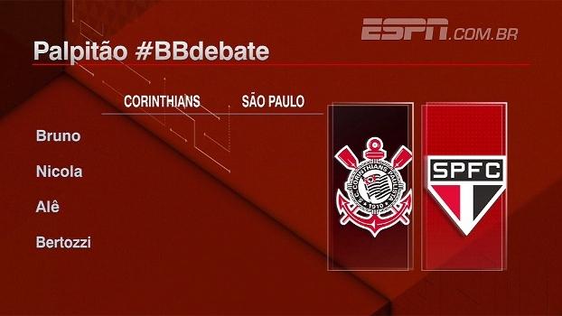 Quem avança em Corinthians x São Paulo? Bate Bola Debate palpita