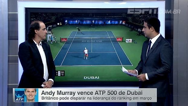 Andy Murray pode abrir boa vantagem no ranking da ATP; Meligeni analisa números