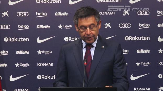 Presidente do Barça comenta decisão de jogar sem torcida, adesão à greve geral e se solidariza a vítimas