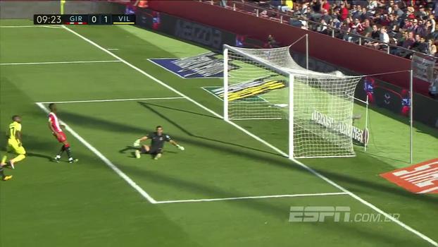 Com dois de Bakambu, Villarreal vence o Girona fora de casa e sobe na tabela do Espanhol