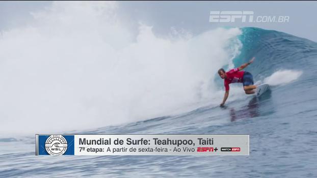Tubos gigantes e fundo de coral; acompanhe a etapa de Teahupooo a partir desta sexta-feira na ESPN+ e WatchESPN