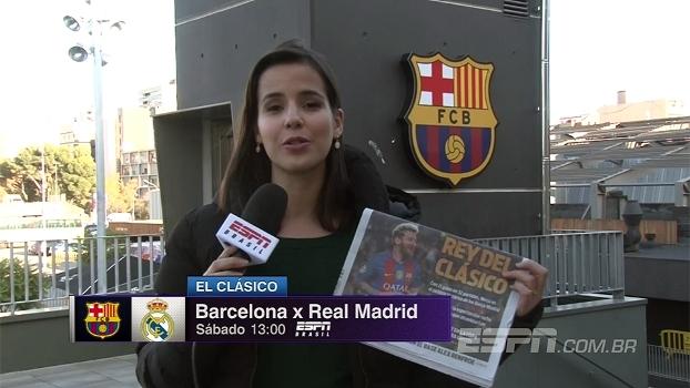 Jornal catalão destaca Messi, o 'Rei do El Clásico'; Natalie Gedra traz as últimas informações
