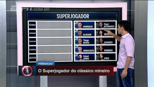 Comentaristas do BB Debate usam características de atletas de Cruzeiro e Atlético-MG para montar 'superjogador'
