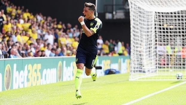 Veja os gols da vitória do Arsenal sobre o Watford por 3 a 1