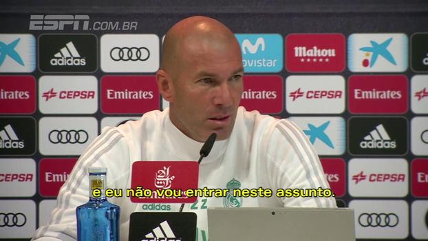Zidane evita falar de assuntos políticos: 'Pensando unicamente no jogo'