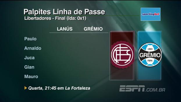 Confira os palpites do 'Linha de Passe' para as grandes decisões de Grêmio e Flamengo na semana