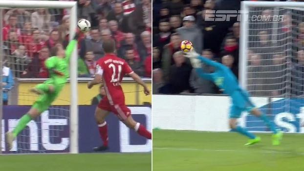 Neuer voando no ângulo, Cech fechando o gol para Coutinho e mais: veja as grandes defesas do fim de semana