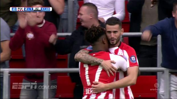 De virada, PSV vence AZ Alkmaar na estreia pelo Holandês