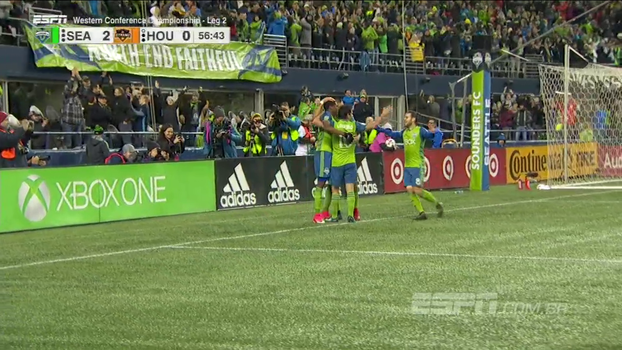 Com gol do astro Dempsey, Seattle Sounders vence Houston Dynamo por 3 a 0 e está a final da MLS