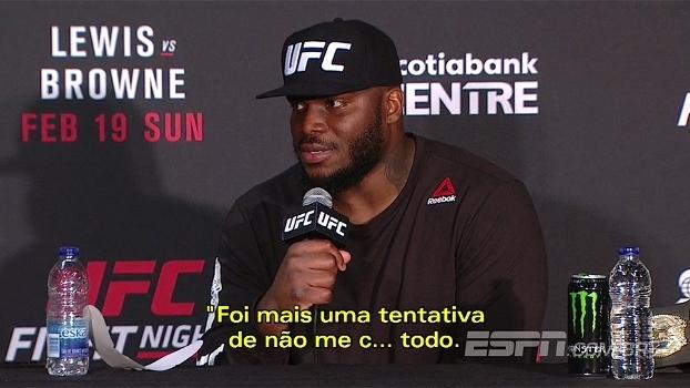 Lewis revela problemas estomacais em vitória no UFC de domingo: 'Quase me c... em rede nacional'