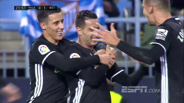 Assista aos gols da vitória do Betis sobre o Malaga por 2 a 0!