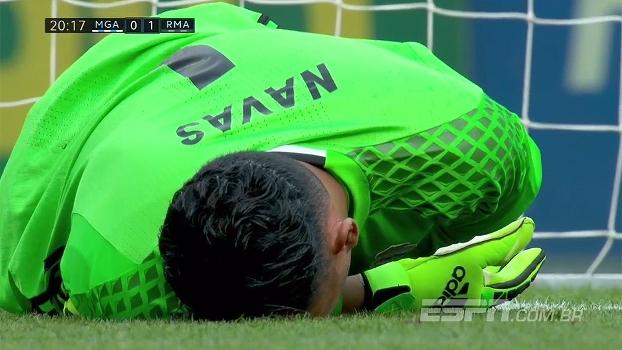 Tempo real: QUE DEFESA! Ramirez solta uma bomba no ângulo, e Navas voa para salvar o Real Madrid