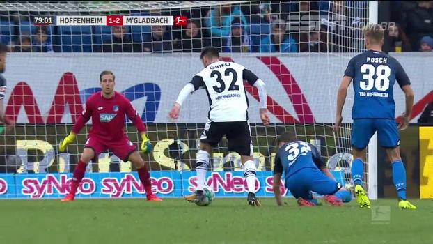 Borrusia Mönchengladbach vira em cima do Hoffenheim e supera o rival na tabela