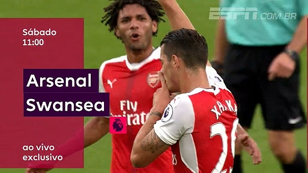 Não perca! O Arsenal recebe o Swansea neste sábado, às 11h, na tela da ESPN e WatchESPN