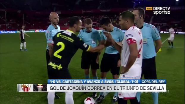 Assista aos gols de Sevilla 4 x 0 Cartagena