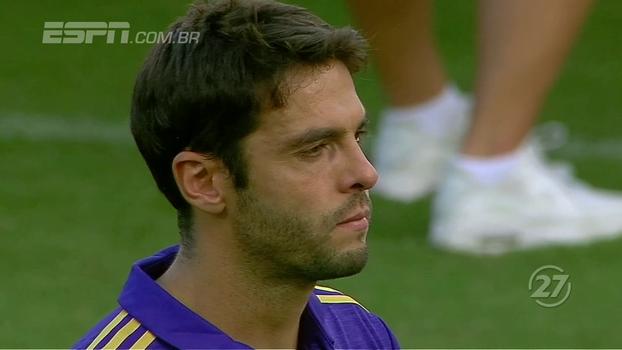 Em sua última partida em casa pelo Orlando City, Kaká se emociona durante hino e não segura as lágrimas