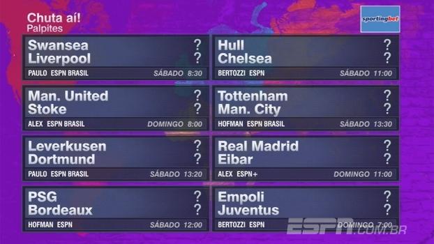 Quem vence o duelo entre líderes da Premier League? Veja os palpites do FNM para rodada na Europa