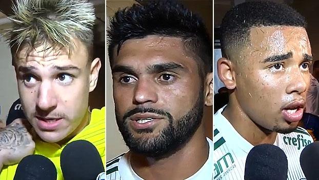Roger Guedes e Luan lamentam derrota; G. Jesus: 'Não quero pensar em nada que não seja o Palmeiras'