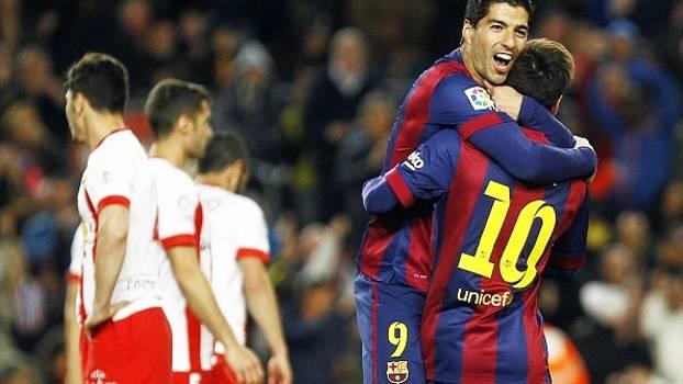 Assista aos gols da vitória por 4 a 0 do Barcelona sobre o Almería