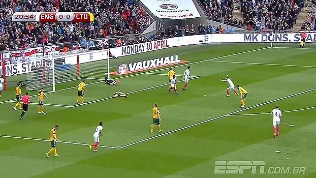 Tempo real: GOL da Inglaterra! Defoe abre o placar em Wembley