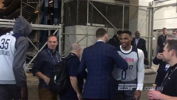 Clima tenso! Durant e Westbrook se evitam na chegada ao ginásio do All-Star Game