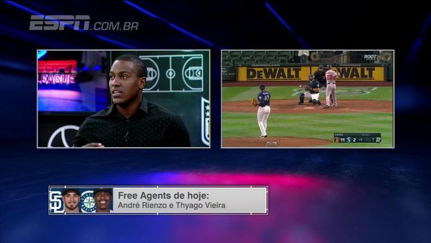 Thyago Vieira se encanta com MLB: 'Coisa que você está acostumado a ver em videogame, filme'