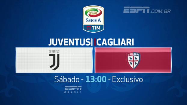 O Italiano está de volta! Juve e Cagliari se enfrentam neste sábado, às 13h, na ESPN Brasil e WatchESPN