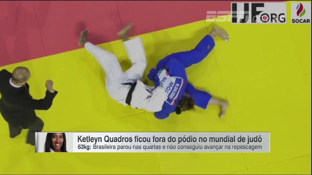 Ketleyn Quadras fica fora do pódio no Mundial de judô de Budapeste