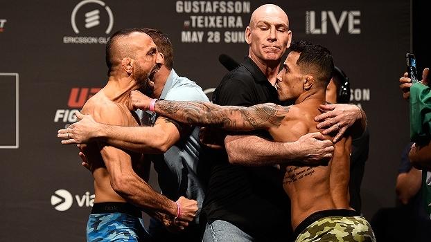 Iraniano parte para cima em pesagem e quase 'antecipa' luta com brasileiro no UFC