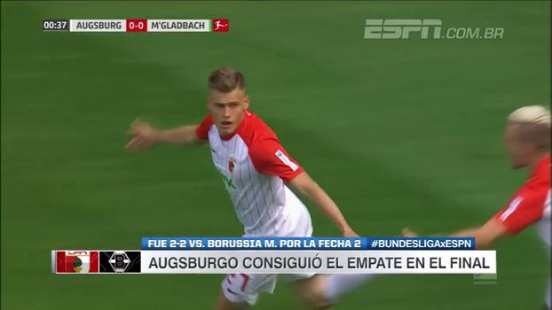 Augsburg consegue empate no fim e segue sem vencer na Bundesliga