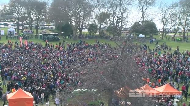 Maior da história? Mais de 7 mil pessoas fazem o haka para bater recorde mundial