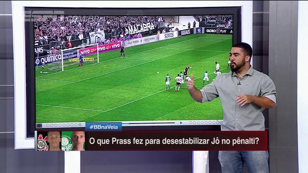 O que Fernando Prass fez para tentar desestabilizar Jô no pênalti? Renato Rodrigues analisa