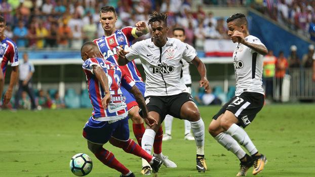 Corinthians perdeu para o Bahia, na Arena Fonte Nova