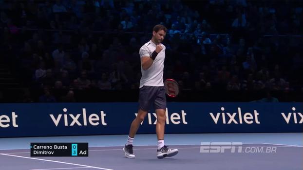 ATP Finals: Lances de Pablo Carreno Busta 0 x 2 Grigor Dimitrov