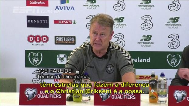 Técnico da Dinamarca diz que Eriksen faz a diferença; treinador da Irlanda culpa gols rápidos