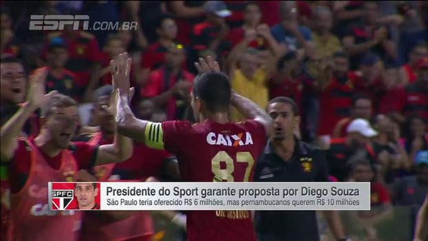 Sport confirma proposta do São Paulo por Diego Souza