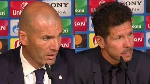 Zidane espera dificuldades em jogo de volta; Simeone: 'Vamos acreditar até a última gota'