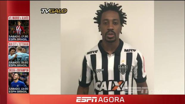 Já com a camisa do Atlético-MG, Arouca manda recado para a torcida: 'Aqui é Galo!'