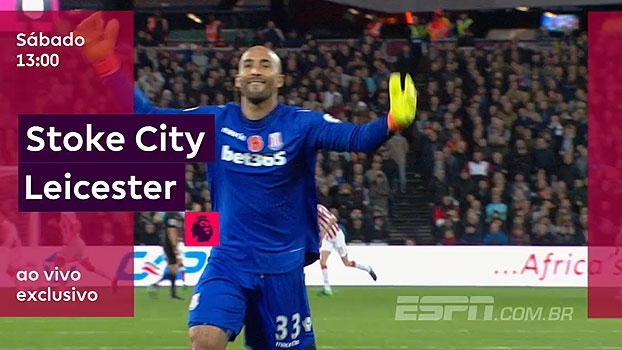Neste sábado, Stoke e Leicester se enfrentam na ESPN Brasil e WatchESPN, às 12h50
