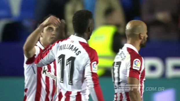 Assista aos melhores momentos da vitória do Athletic Bilbao sobre o Levante por 2 a 1!