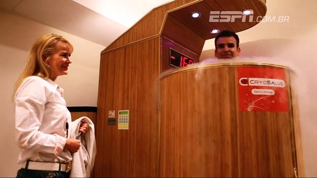 Repórter da ESPN passa pelo mesmo tratamento de Cristiano Ronaldo; conheça a criosauna