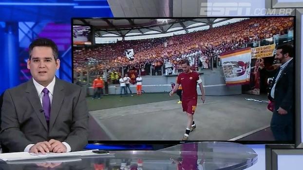 Bertozzi reverencia Totti na despedida: 'Todo mundo gostaria de ter no seu time jogador como esse'