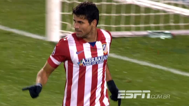 Tempo Real: Gol do Atlético de Madri! Diego Costa faz o 2º dele contra o Austria Viena