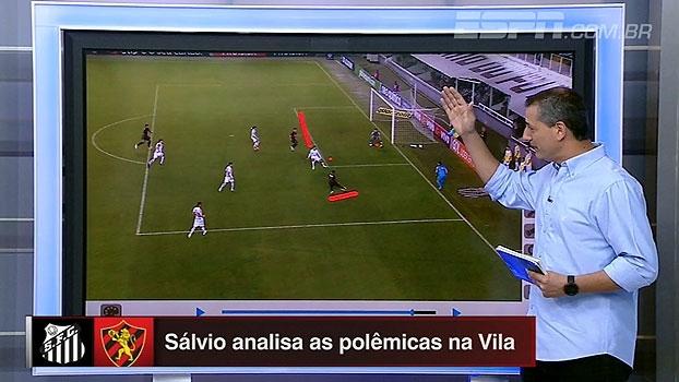 Impedimento não marcado, gol de Osvaldo e mais: Sálvio analisa os lances de Santos x Sport