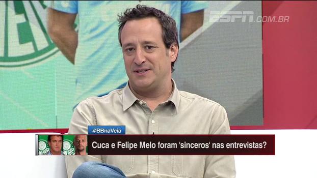 Gian: 'Não vejo futuro na relação entre Cuca e Felipe Melo'