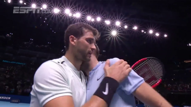 ATP Finals: Lances de Grigor Dimitrov 2 x 1 Jack Sock